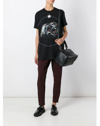 Givenchy - Black Medium Pandora Debossed Leather Tote - Lyst