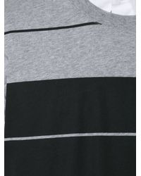Givenchy - Gray Oversize Striped T-shirt for Men - Lyst