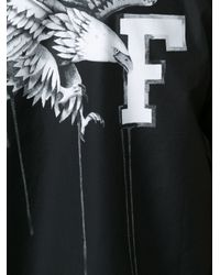 Off-White c/o Virgil Abloh - Black Rear Eagle Print Shirt for Men - Lyst