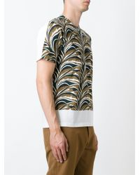 Marni - White Abstract Print T-shirt for Men - Lyst