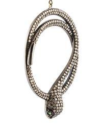 Carole Shashona - Black 'harmony Snake' Diamond Earrings - Lyst