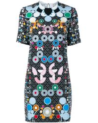 Peter Pilotto - Black Geometric Print Dress - Lyst