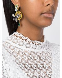 Dolce & Gabbana | Metallic Drop Bee Clip-on Earrings | Lyst