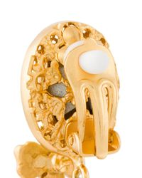 Dolce & Gabbana   Metallic Drop Bee Clip-on Earrings   Lyst