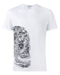 Alexander McQueen | Black Butterfly Skull Print T-shirt for Men | Lyst