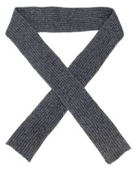 Marni | Gray Ribbed Knit Scarf for Men | Lyst