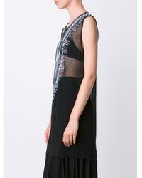 Raquel Allegra - Black Rawedged Stretchlace Top - Lyst