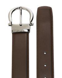 Ferragamo - Brown Gancio Buckle Belt for Men - Lyst