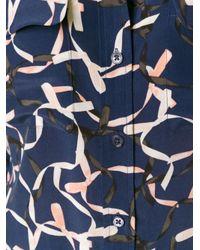 Equipment - Blue Ribbon Print Shirt - Lyst