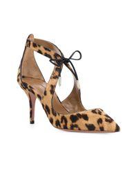 Aquazzura - Brown Leopard Pattern Pumps - Lyst