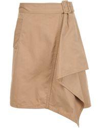 3.1 Phillip Lim | Blue Belted Draped Skirt | Lyst