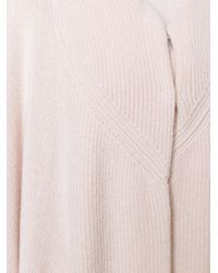 Stella McCartney - Blue Oversize Knitted Cape - Lyst
