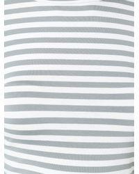 Natasha Zinko - White Striped Long-Sleeved Jersey T-shirt - Lyst