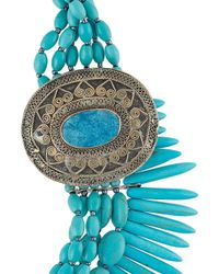 Night Market - Blue Beaded Necklace - Lyst