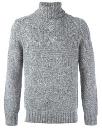 Brunello Cucinelli - Gray Turtle Neck Jumper for Men - Lyst