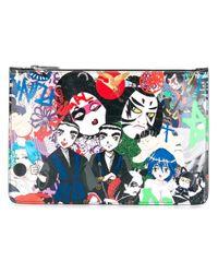 DSquared² | Multicolor 'manga Punk' Clutch Bag for Men | Lyst