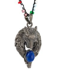 Lanvin | Metallic Wolf Emblem Necklace | Lyst