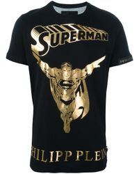 Philipp Plein | Black 'golden Hero' T-shirt for Men | Lyst