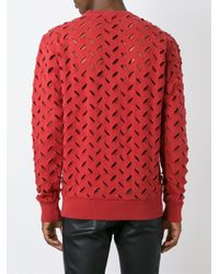 Vivienne Westwood Anglomania - Blue Perforated Sweatshirt for Men - Lyst