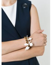 Marni - White Embellished Floral Wrap Bracelet - Lyst