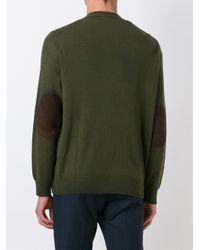 Polo Ralph Lauren - Green Elbow Patch Cardigan for Men - Lyst
