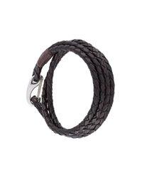 Paul Smith - Black Braided Bracelet for Men - Lyst