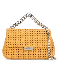 Stella McCartney - Purple Mini 'becks' Weaved Shoulder Bag - Lyst