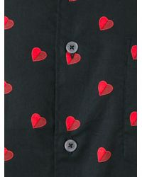 PS by Paul Smith - Black 'half-heart' Print Shirt for Men - Lyst