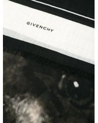 Givenchy - Black Rottweiler And Stars Scarf for Men - Lyst
