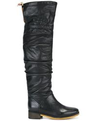 See By Chloé | Black - 'jona' Over The Knee Boots - Women - Leather/rubber - 38 | Lyst