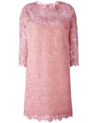 Ermanno Scervino | Multicolor - Lace Overlay Dress - Women - Cotton/acrylic/polyamide/polyester - 42 | Lyst