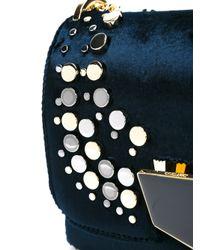 Jimmy Choo - Blue Petite 'lockett' Shoulder Bag - Lyst
