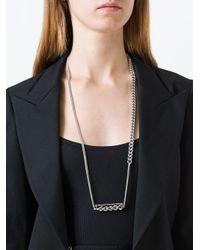 Maison Margiela - Metallic Chain Pendant Necklace - Lyst