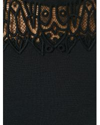 Chloé - Black Chloé Embroidered Lace Jumper - Lyst