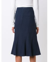 Altuzarra - Blue Ruffled Skirt - Lyst