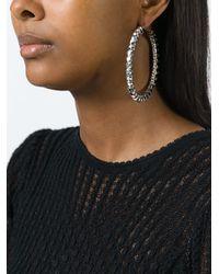 Givenchy - Metallic 'rosario' Hoop Earrings - Lyst