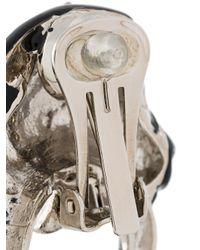 Roberto Cavalli - Metallic 'zebra' Earrings - Lyst