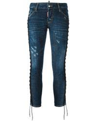 DSquared² | Blue 'deana' Lace Effect Jeans | Lyst