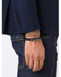Tod's | Black Tods Braided Bracelet for Men | Lyst