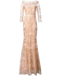 Notte by Marchesa   Multicolor Embroidered Gown   Lyst