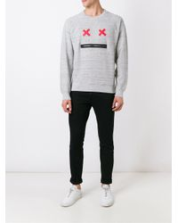 Marc Jacobs - Gray Face Sweatshirt for Men - Lyst