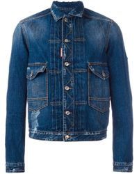 DSquared² | Blue 'tokyo Metro Flower' Denim Jacket for Men | Lyst