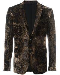 Etro | Black Printed Velvet Blazer for Men | Lyst