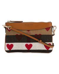 Burberry | Multicolor Heart Print Crossbody Bag | Lyst