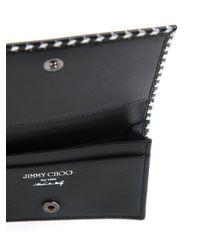 Jimmy Choo - Black 'belsize' Printed Cardholder - Lyst