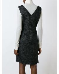 Agnona - Black V-neck A-line Dress - Lyst
