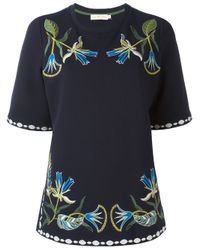 Tory Burch | Blue - 'ainsley' Tunic Top - Women - Cotton - Xs | Lyst