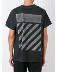 Off-White c/o Virgil Abloh - Black Striped Back Print T-shirt for Men - Lyst