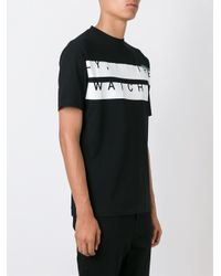 McQ - Black Y, The Watch Print T-shirt for Men - Lyst