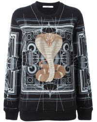 Givenchy - Black Cobra Printed Sweatshirt for Men - Lyst